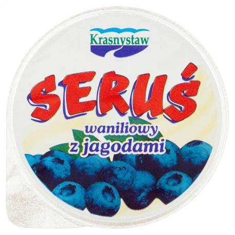 Krasnystaw Seruś Serek waniliowy z jagodami