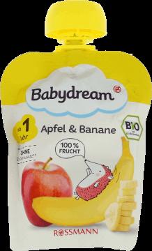 Babydream, BIO, puree owocowe jabłko-banan, po 1. roku