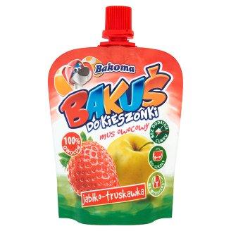 Bakoma Bakuś do kieszonki Mus owocowy jabłko-truskawka