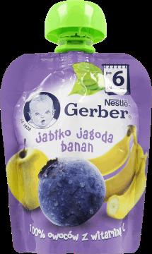 Gerber, Deserek, jabłko-jagoda-banan, po 6 miesiącu