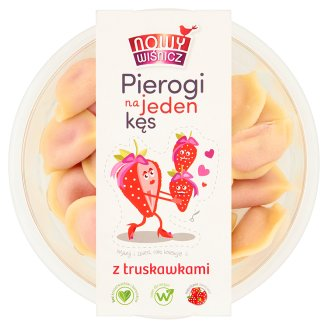 Nowy Wiśnicz Pierogi na jeden kęs z truskawkami
