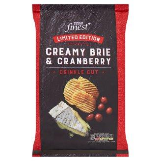 Tesco Finest Chipsy ziemniaczane grubo krojone o smaku sera Brie i żurawiny