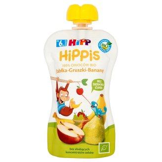 HiPP BIO HiPPiS Jabłka-Gruszki-Banany Mus owocowy po 6. miesiącu