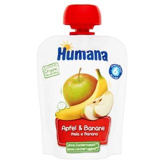 Humana 100% Organic Mus jabłko-banan po 6 miesiącu