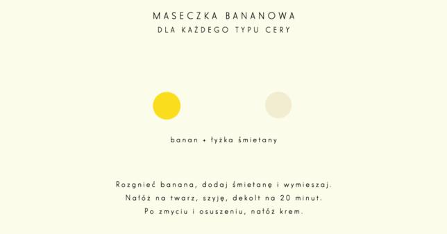 maseczka bananowa