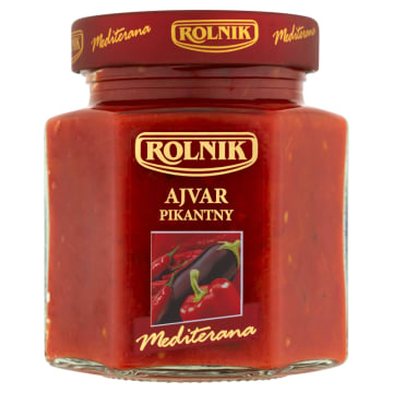 ROLNIK Premium Ajvar - pasta ostra paprykowo-bakłażanowa