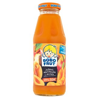 Bobo Frut 100% Sok jabłko marchewka i morela po 5 miesiącu