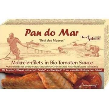 PAN DO MAR Makrela w sosie pomidorowym BIO