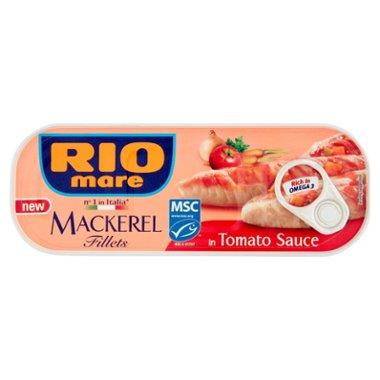 Rio Mare Filety makreli w sosie pomidorowym z warzywami