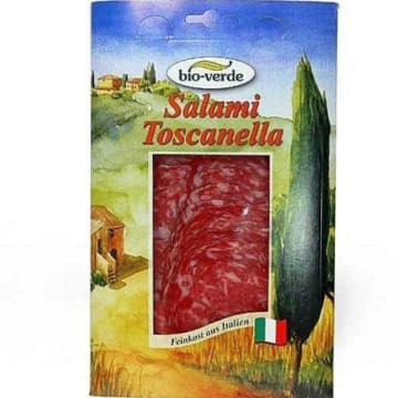 BIO VERDE Salami Toscanella - plastry BIO