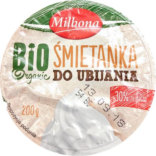 Milbona, bio śmietanka 30%