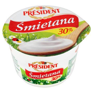 PRESIDENT Śmietana 30%