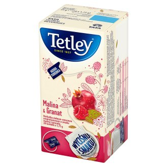 Tetley Malina & Granat Herbatka ziołowo-owocowa