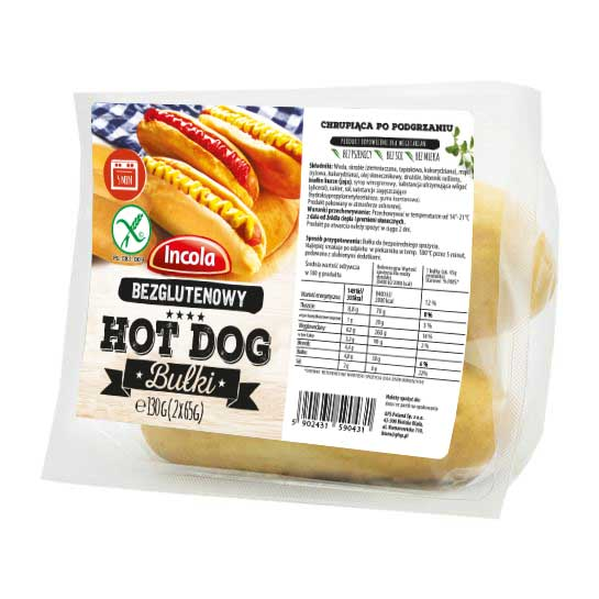 Incola, Bezglutenowa bułka hot dog