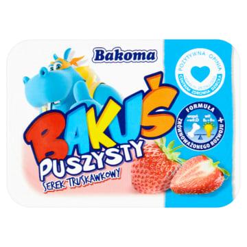 BAKOMA BAKUŚ Serek puszysty o smaku truskawkowym