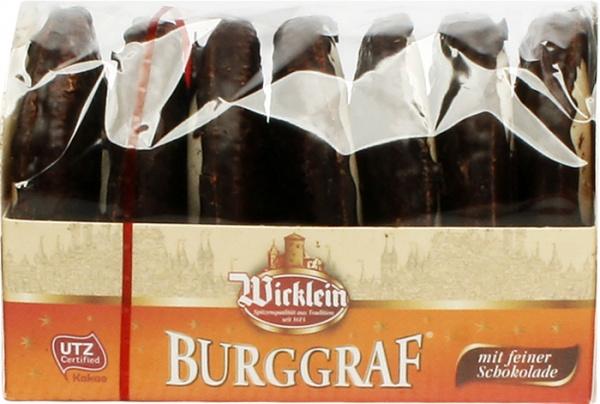 Pierniki Norymberskie Burggraf w polewie czekoladowej Wicklein
