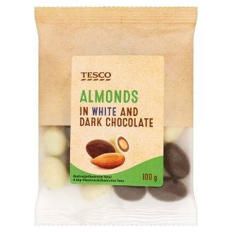 Tesco Migdały w czekoladzie i białej czekoladzie