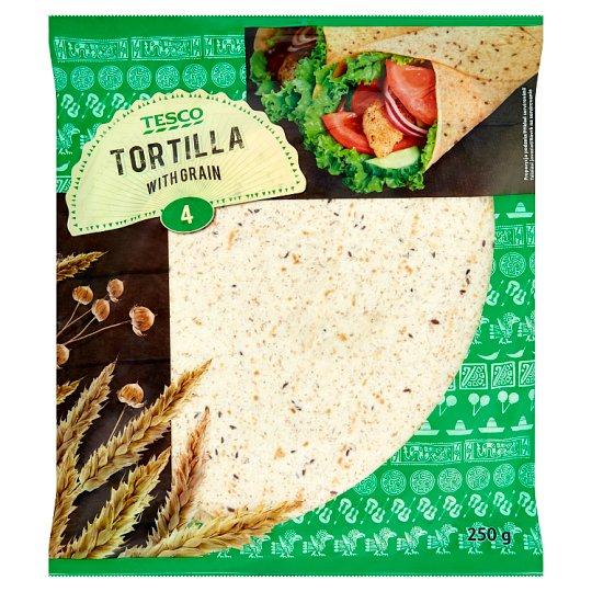 Tesco Tortilla Placki pszenne z otrębami pszennymi i siemieniem lnianym