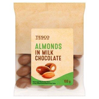 Tesco Migdały w czekoladzie mlecznej
