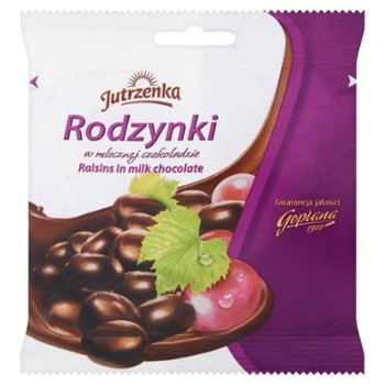 Jutrzenka Rodzynki w mlecznej czekoladzie
