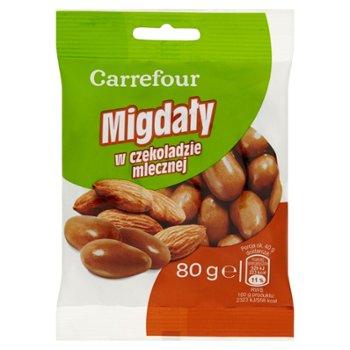 Carrefour Migdały w czekoladzie mlecznej