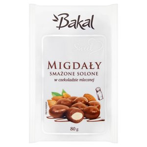 Bakal Sweet Migdały Smażone Solone W Czekoladzie Mlecznej