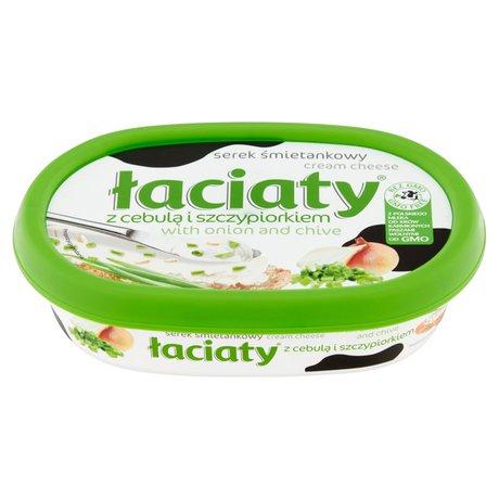 Łaciaty - Serek śmietankowy z cebulą i szczypiorkiem