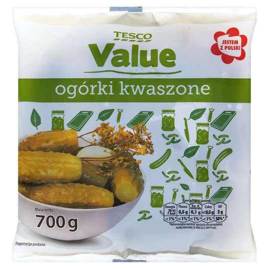 Tesco Value Ogórki kwaszone