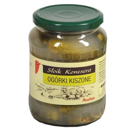 Auchan - Ogórki kiszone. Produkt pasteryzowany