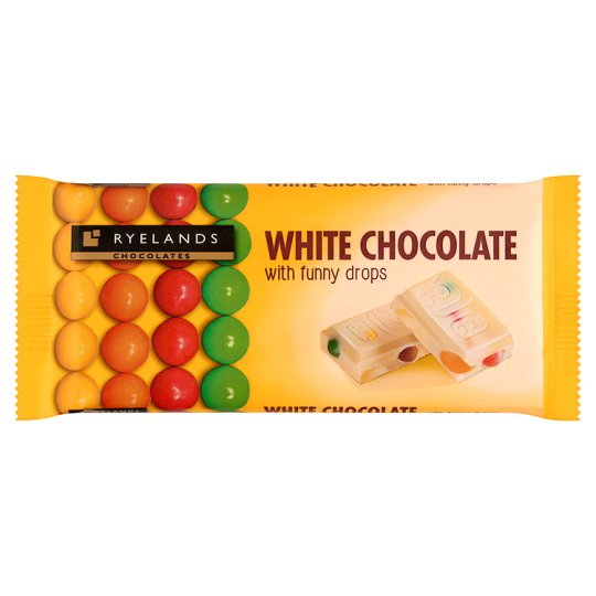 Ryelands Chocolates Biała czekolada z drażami z czekolady mlecznej