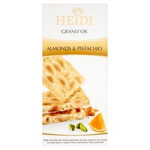 Heidi Grand?or Almonds & Pistachio Biała Czekolada Z Karmelizowanymi Migdałami I Pistacjami