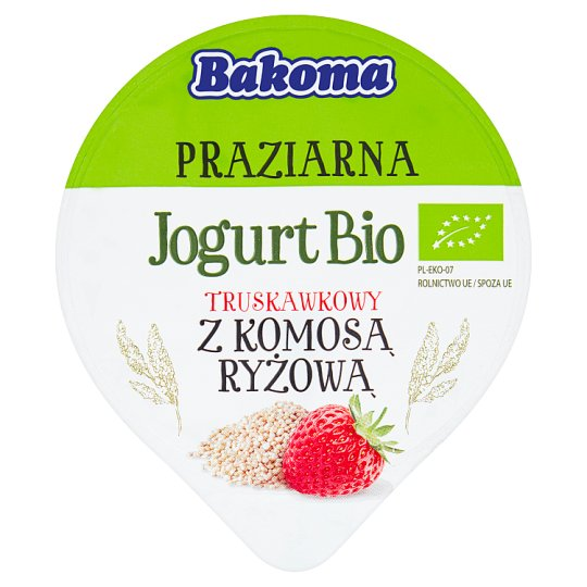 Bakoma Praziarna Jogurt Bio truskawkowy z komosą ryżową