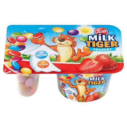 Zott Milk Tiger Jogurt truskawkowy z drażami kakaowymi