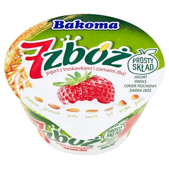 Bakoma 7 zbóż Jogurt z truskawkami i ziarnami zbóż