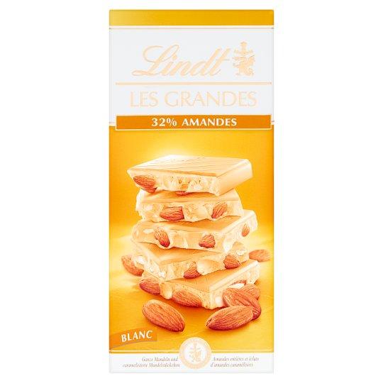 Lindt Les Grandes Szwajcarska biała czekolada z migdałami