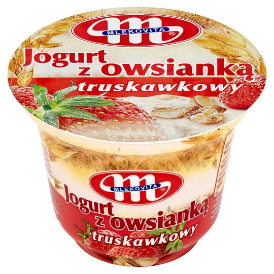 Mlekovita Jogurt z owsianką truskawkowy