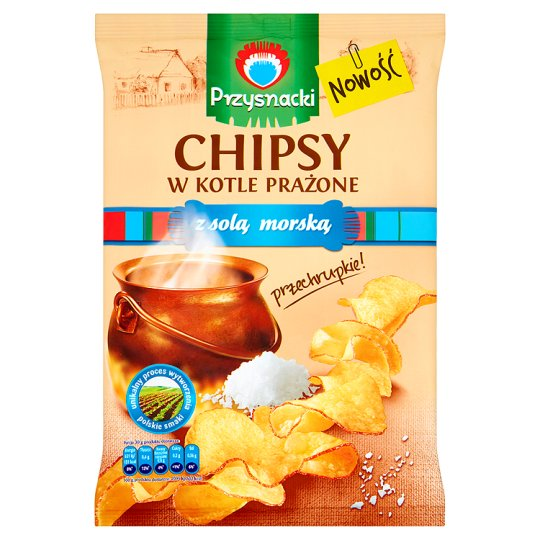 Przysnacki Chipsy w kotle prażone z solą morską