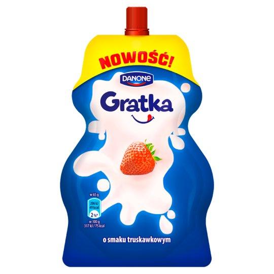 Danone Gratka Deser mleczny o smaku truskawkowym