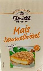 Bauckhof Bezglutenowa panierka kukurydziana bez drożdży BIO