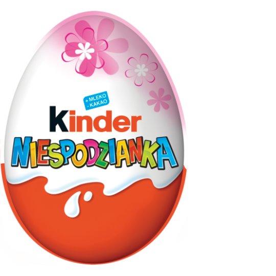 Kinder Różowa Niespodzianka Słodkie jajko z niespodzianką pokryte czekoladą mleczną