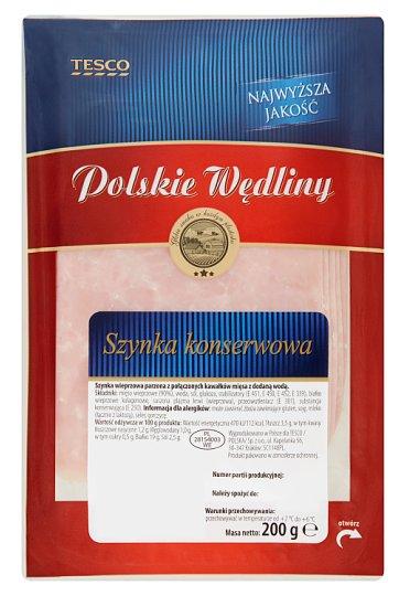 Tesco Polskie Wędliny Szynka konserwowa