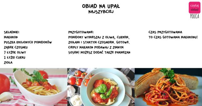 psta makaron pomidory