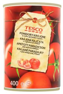 Tesco Pomidory krojone w soku pomidorowym