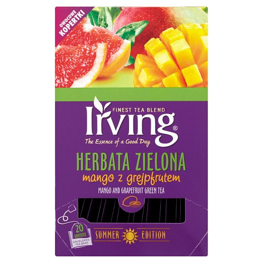 Irving Herbata zielona mango z grejpfrutem