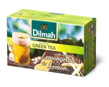 DILMAH Herbata zielona z trawą cytrynową i cytryną