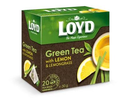 LOYD TEA Herbata zielona z cytryną i trawą cytrynową