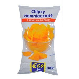 Eco+ Chipsy Ziemniaczane Paprykowe