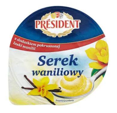PRESIDENT Serek waniliowy