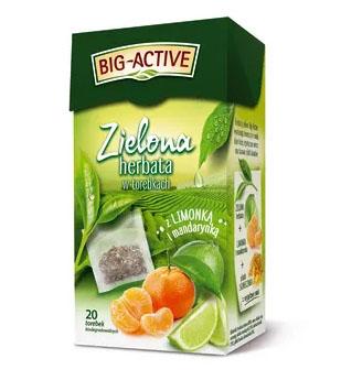 BIG-ACTIVE Herbata zielona liściasta z pomarańczą