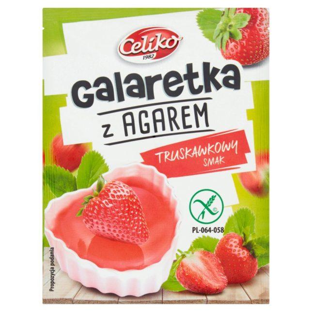 Celiko - Galaretka z agarem o smaku truskawkowym w proszku